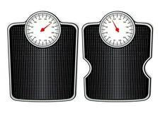 Two bathroom scales Stock Photos