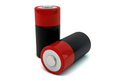 Two batteries Royalty Free Stock Photography