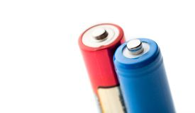 Two batteries Stock Images