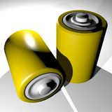 Two batteries Royalty Free Stock Image