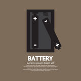 Two Batteries. Graphic Vector Illustration Royalty Free Stock Image