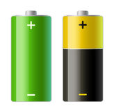 Two batteries icons Royalty Free Stock Images