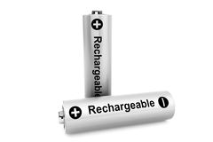 Two batteries on a white Royalty Free Stock Image