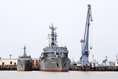 Two battleships Stock Photo