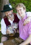 Two bavarian men Royalty Free Stock Image