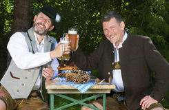 Two bavarian men Royalty Free Stock Photos