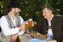 Two bavarian men Royalty Free Stock Images