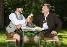 Two bavarian men Stock Photo