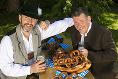 Two bavarian men Royalty Free Stock Photography
