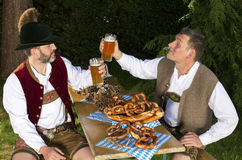 Two bavarian men Stock Image