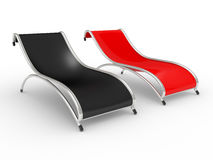 Two beach armchairs Royalty Free Stock Images