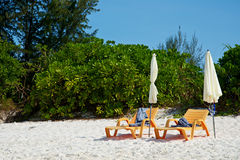 Two beach bed Royalty Free Stock Image