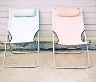Free Two Beach Bench In Front Of The House Royalty Free Stock Photo - 37411375