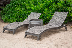 Two Beach Chairs Royalty Free Stock Photography