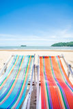 Two Beach Chairs. In thailand Stock Images
