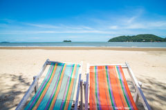 Two Beach Chairs. In thailand Royalty Free Stock Image