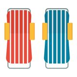 Two beach chaise lounges Stock Images