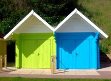 Two beach chalets Stock Images