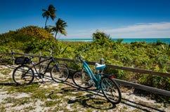 Two Beach Cruisers - Bahia Honda, Florida stock images