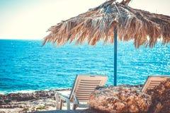 Two beach lounge Royalty Free Stock Photo