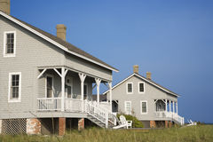 Two Beachfront Homes Stock Images