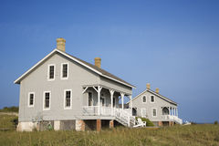Two Beachfront Homes Stock Photos