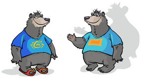 Two  Bear characters. Royalty Free Stock Images