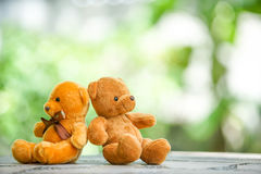 Two Bear dolls Stock Photo