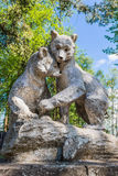 Two Bear - sculpture. Royalty Free Stock Images