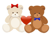 Two Bears Royalty Free Stock Photos