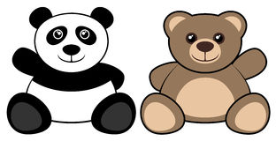 Two bears. Creative design of two bears Stock Images