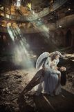 Two beautiful angel women Stock Photography
