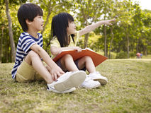 Two beautiful asian children Royalty Free Stock Image