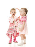 Two beautiful baby royalty free stock photos
