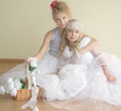 Two beautiful ballerinas Stock Photography