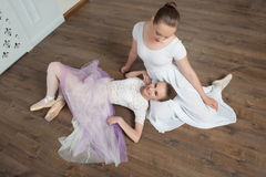 Two beautiful ballet dancers posing Royalty Free Stock Images