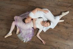 Two beautiful ballet dancers posing Stock Photo