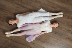 Two beautiful ballet dancers posing Stock Photos