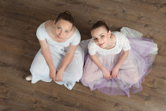 Two beautiful ballet dancers posing Stock Photography