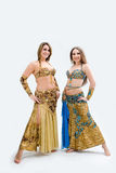 Two beautiful belly dancers Royalty Free Stock Photos