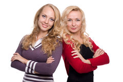 Two beautiful blond woman sisters Royalty Free Stock Photography