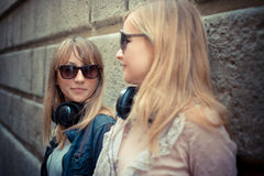 Two beautiful blonde women Royalty Free Stock Images