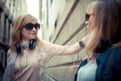 Two beautiful blonde women Stock Photo