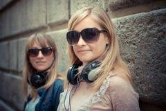 Two beautiful blonde women Stock Photography