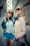 Two beautiful blonde women Stock Images