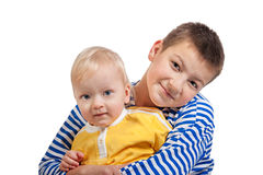 Two beautiful boys  isolated Royalty Free Stock Photo