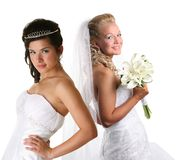 Two beautiful brides Stock Photo