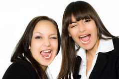 Two beautiful business woman Royalty Free Stock Photo