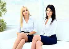 Two beautiful businesswoman office Royalty Free Stock Image