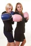 Two Beautiful caucasian business women Stock Photography